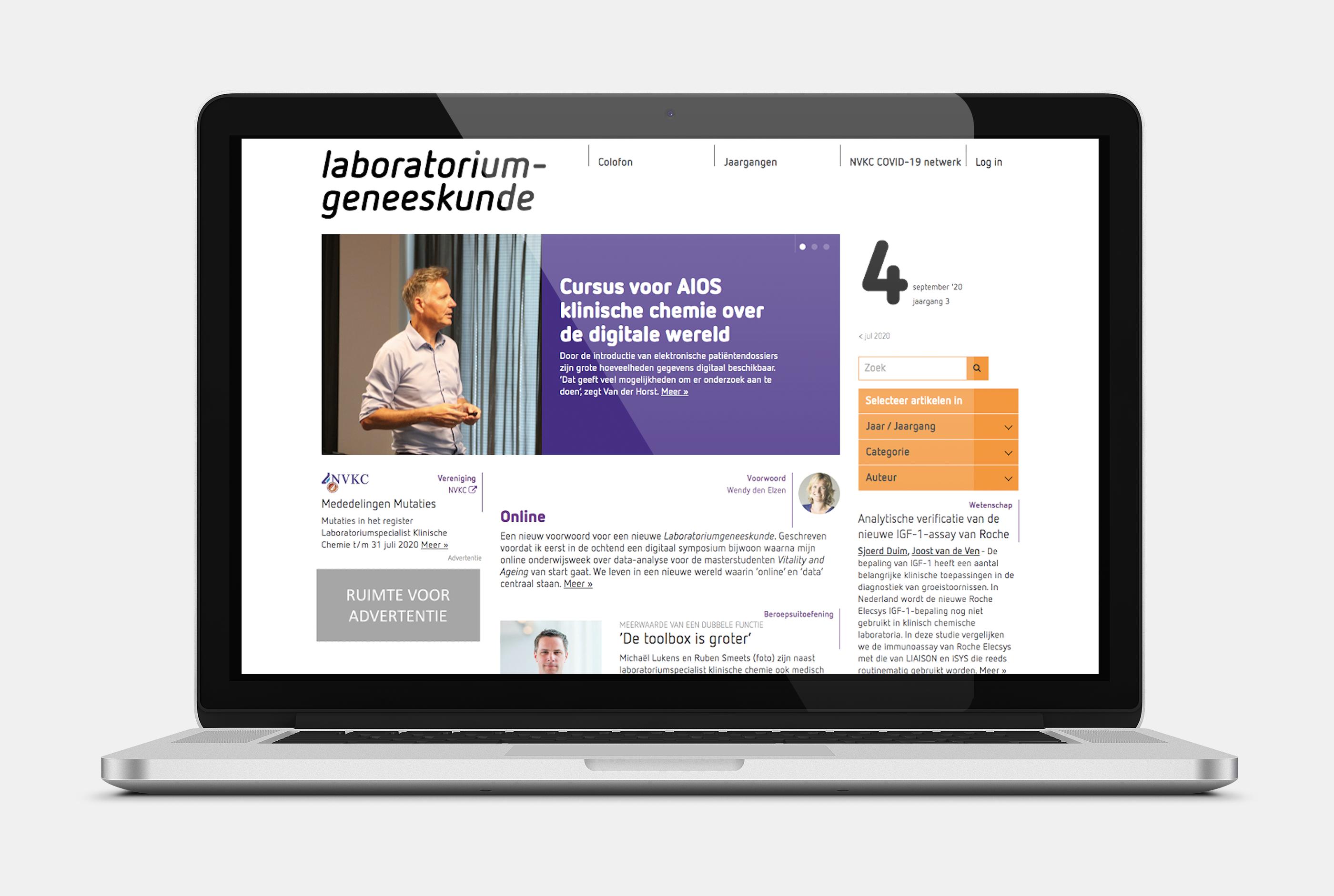 illustratie advertentieruimte website laboratoriumgeneeskunde