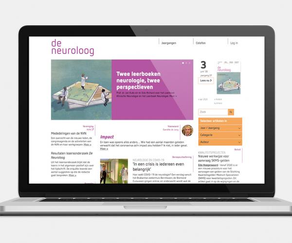 neuroloog website laptop